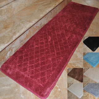 Fashion Street Memory Foam Extra Long Bath Rug