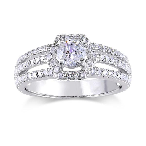 Miadora 14k White Gold 1ct TDW Diamond Engagement Ring (G-H, I1-I2)