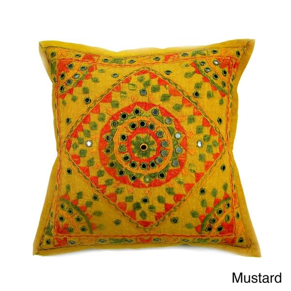 Hand stitched Diamond Multi Color Cushion Cover (India)