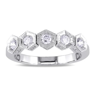 Miadora Signature Collection Miadora 18k White Gold 1/3ct TDW Diamond 5-stone Ring (H-I, SI2)