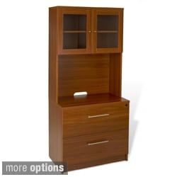 Jesper Office 2-drawer Lateral File with Hutch