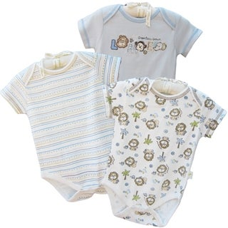 Organically Grown Infant &#39;Little Lion&#39; Organic Cotton Bodysuits (Set of 3)