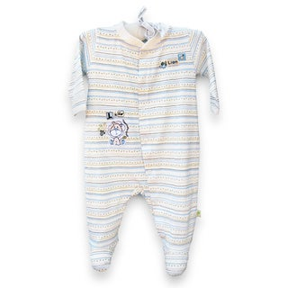 Organically Grown� Infant 'L is for Lion' Striped Organic Cotton Coveralls