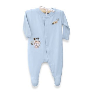 Organically Grown® Infant 'L is for Lion' Blue Organic Cotton Coveralls