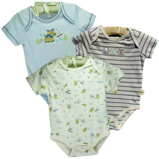 Organically Grown Infant 'Reindeer Friends' Organic Cotton Bodysuits (Set of 3)