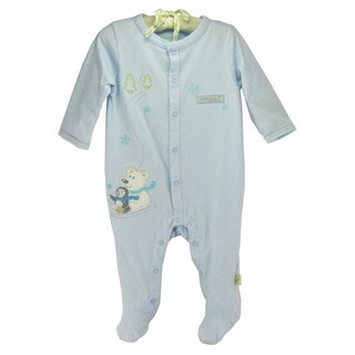 Infant 'Polar Bear and Penguin' Organic Cotton Coveralls