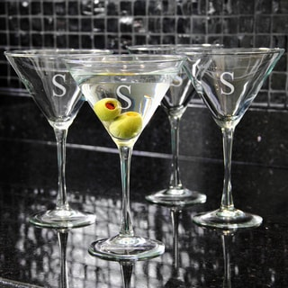 Custom Engraved 10-ounce Martini Glasses (Set of 4)