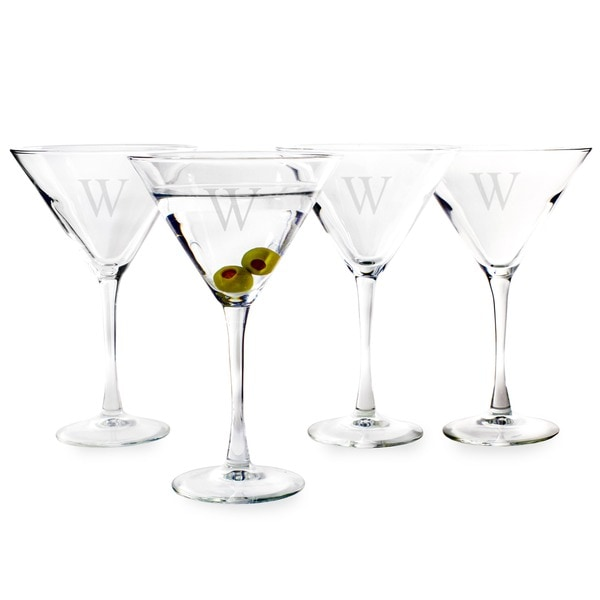 Personalized 10-ounce Martini Glasses (Set of 4)