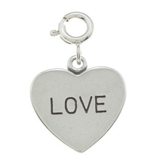 Sterling Silver 'Love' Heart Charm