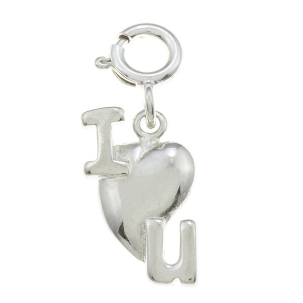 Sterling Silver 'I Love You' Charm