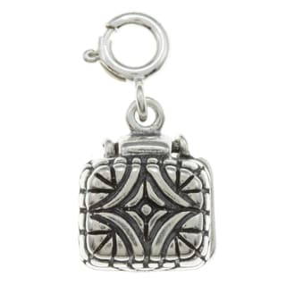 Sterling Silver Crystal-accented Ring in Box Charm