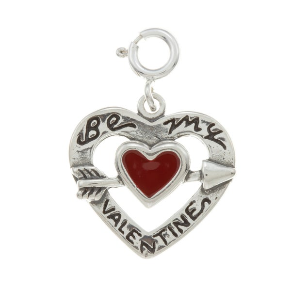Sterling Silver Valentine Heart Charm