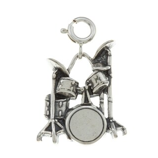 Sterling Silver Drum Set Charm