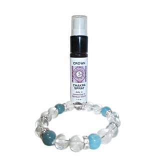 Crown Chakra Spray and Crystal Set