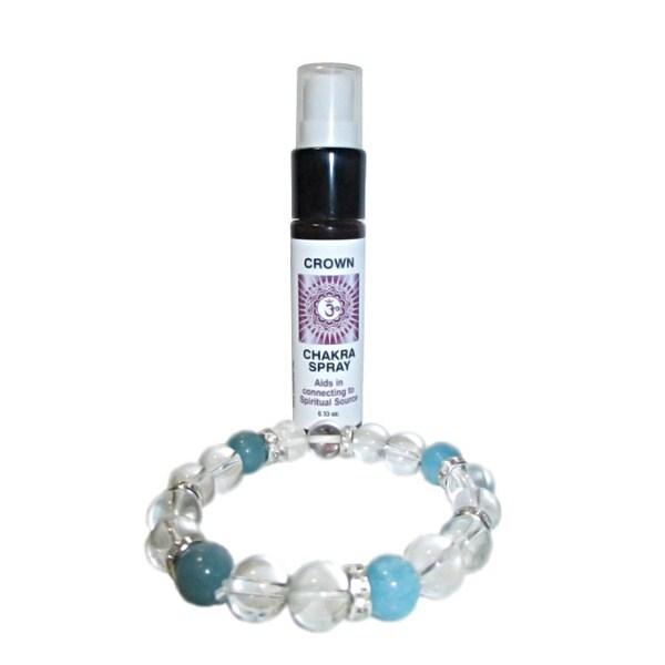 Crown Chakra Spray and Crystal Set