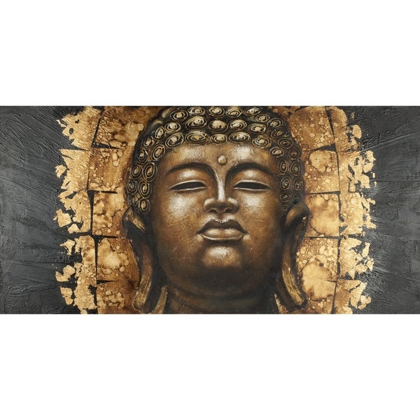 Safavieh Works of Art Gold Buddha Canvas Art 10327107