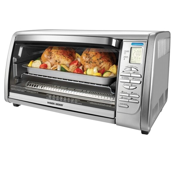 Black & Decker CTO6335S Stainless Steel Digital Countertop Convection Oven (Refurbished)