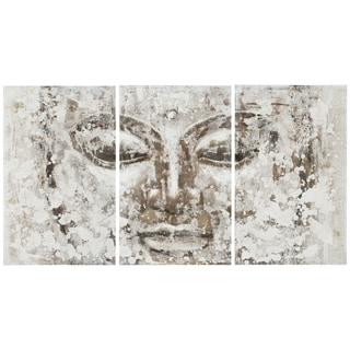 Safavieh Works of Art Buddha 3-piece Canvas Art