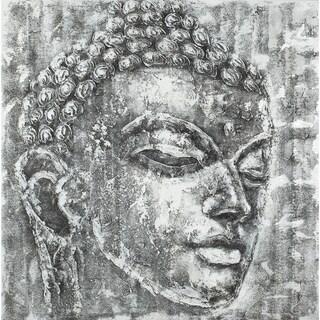Safavieh Works of Art Black and White Buddha Canvas Art