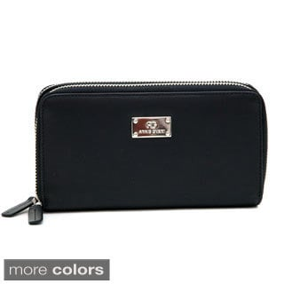 Anais Gvani Genuine Leather Zip-Around Wallet