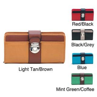 Dasein Women's Color-blocked Bi-fold Wallet