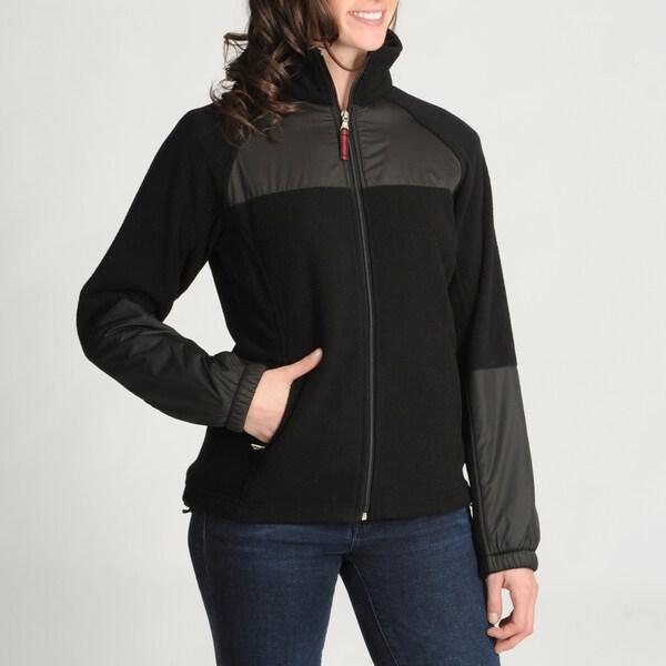 Tommy Hilfiger Women's Black Full-zip Fleece Jacket