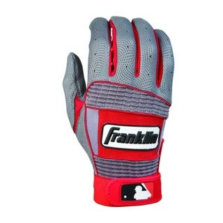 MLB Adult Grey/Red Neo Classic II Batting Glove
