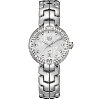 Tag Heuer Women's WAT1414.BA0954 'Link' Diamond Dial Stainless Steel Quartz Watch