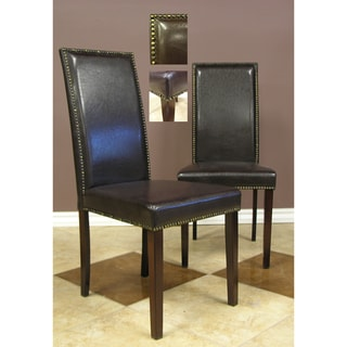 Warehouse of Tiffany Blazing Dark Brown Dining Chairs (Set of 4)