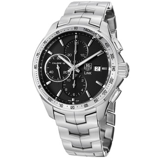 Tag Heuer Men's CAT2010.BA0799 'Link' Black Dial Stainless Steel Automatic Watch