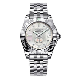 Breitling Men's Steel 'Galactic 36' Diamond Automatic Watch