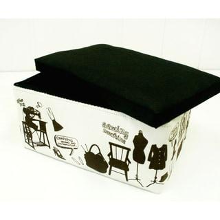 Suzy Black/ White Novelty Sewing and Storage Box