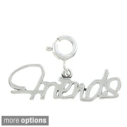 Sterling Silver 'Friends' Charm