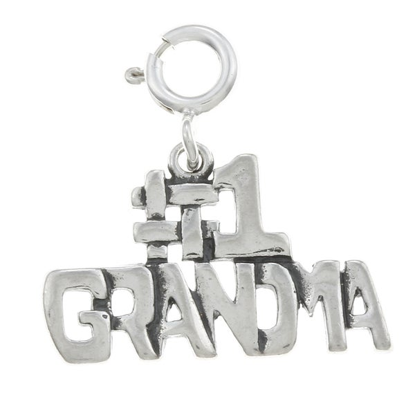 Sterling Silver Family Charm