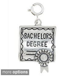 Sterling Silver Degree Certificate Charm