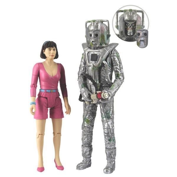 Doctor Who Peri and Rogue Cyberman