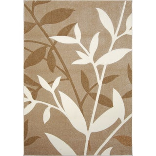 New Waves Beige Floral Rug