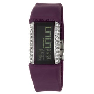 Philippe Starck Women's Steel Glitz Digital Chronograph Watch