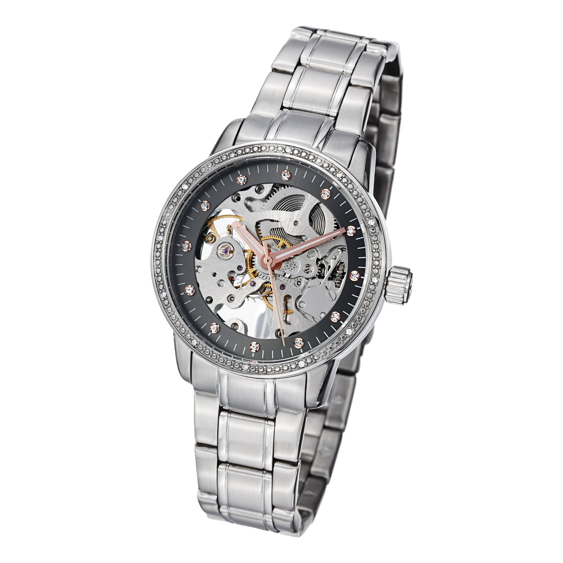 Overstock.com Stuhrling Original Women's Lady Delphi Automatic Swarovski Crystal Bracelet Watch at Sears.com