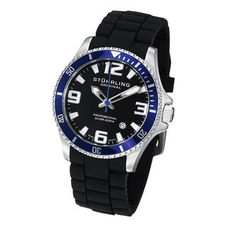 Stuhrling Original Men's Regatta Champion Sport Water-Resistant Rubber Strap Watch