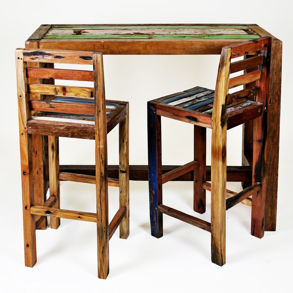 Ecologica Reclaimed Wood Bar Table