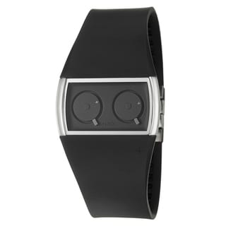 Philippe Starck Women's Steel Dual Time-zone 'Palindrome' Watch