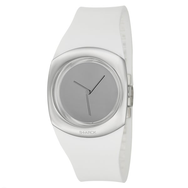 Philippe Starck Women's White Stainless-Steel 'Minimalist' Watch