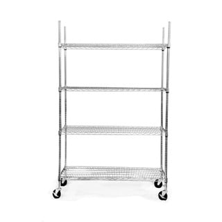 Trinity EcoStorage 4-tier Wheeled Wire Shelving Unit