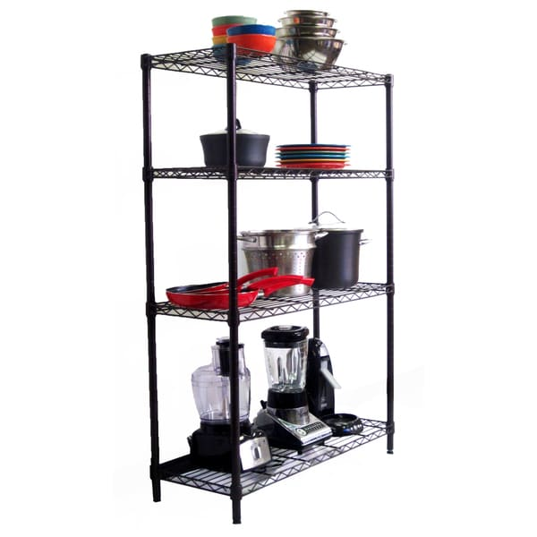 Trinity 4-tier NSF 36 x 14 x 54 Dark Bronze Indoor Wire Shelving Rack with Liners