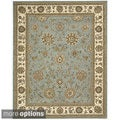 Nourison 2000 Hand-Tufted Kashan Blue Wool Area Rug