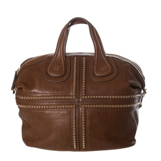 Givenchy 'Nightingale Ball Chain' Medium Brown Leather Satchel