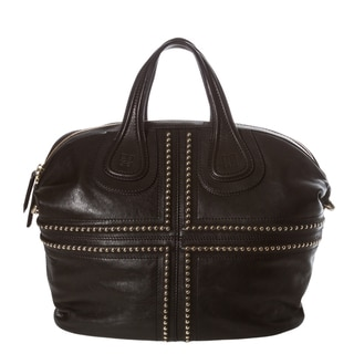 Givenchy 'Nightingale Ball Chain' Medium Black Leather Satchel