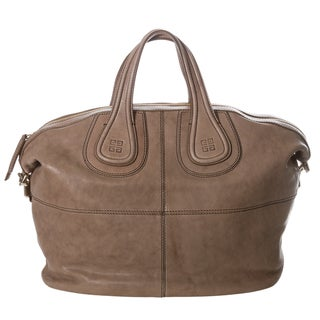 Givenchy 'Nightingale' Medium Taupe Leather Satchel