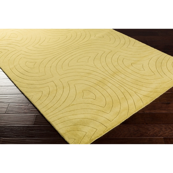 Candice Olson Loomed Callaway Geometric Plush Wool Rug